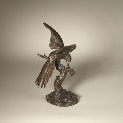 Antoine-Louis Barye, 'Parrot with Head Right', ca. 1840