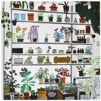 "Jonas Wood, 'Large Shelf Still Life Poster / ""Sihho Kusaka and Jonas Wood,"" 2017-2018, exhibition poster, Voorlinden museum and gardens (Wassenaar, Netherlands)', 2017"