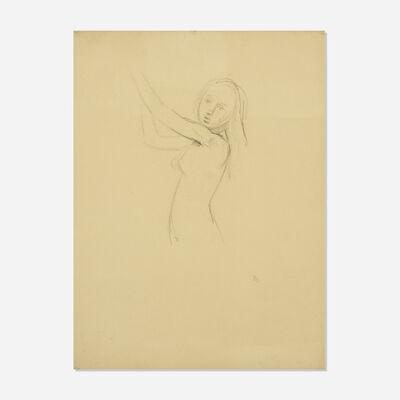 Balthus, 'Untitled (study for Nu de Profil)', 1972