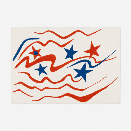 Alexander Calder, 'Stars and Stripes (from the Flying Colors series)', 1975