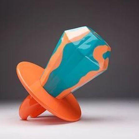 Jonathan Paul (aka Desire Obtain Cherish), 'Married To Success - Orange Green Swirl Diamond', 2014