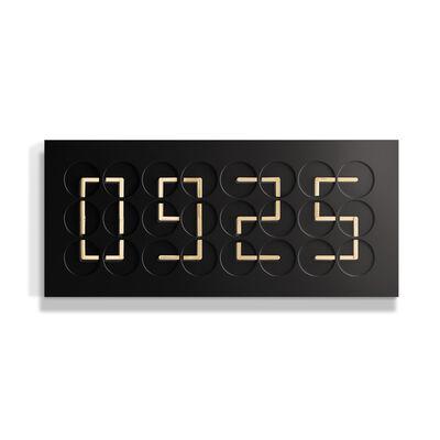 Humans Since 1982, 'ClockClock 24 Golden Hands Black ', 2018
