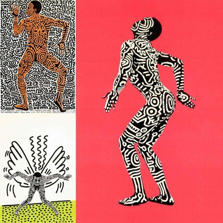 Keith Haring, 'Keith Haring Into 84 (set of 3 Haring announcements)', 1983