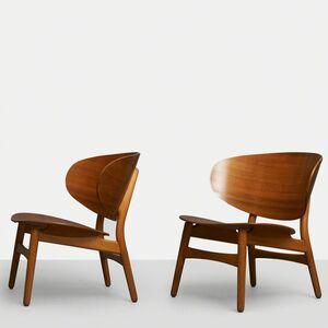Hans Jørgensen Wegner, 'Hans Wegner Shell Lounge Chairs', ca. 1940