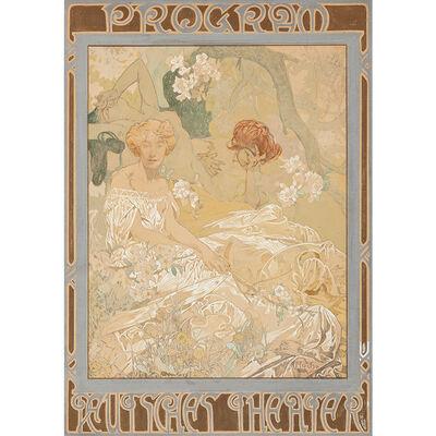 Alphonse Mucha, 'Alphonse Mucha (1860-1939) Komödie 1908 Deutsches Theater New York', ca. 1908
