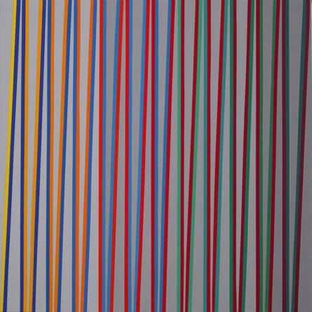 Gabriele Evertz, 'From Yellow to Red over Bluegreen, ZigZag Series', 2019