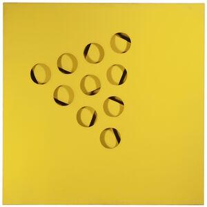 Paolo Scheggi, 'Intersuperficie curva (Giallo)', 1970