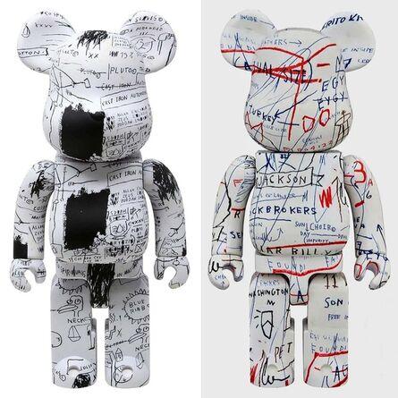 Jean-Michel Basquiat, 'Basquiat Bearbrick 400% Companions Set of 2 (Basquiat BE@RBRICK)', ca. 2019
