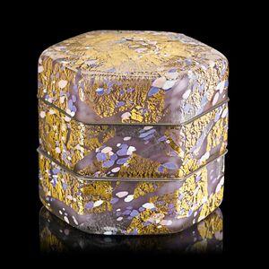 "Kyohei Fujita, 'Rare and large triple-layer Ornamented box, ""Genji-tale,"" Japan', 1995"