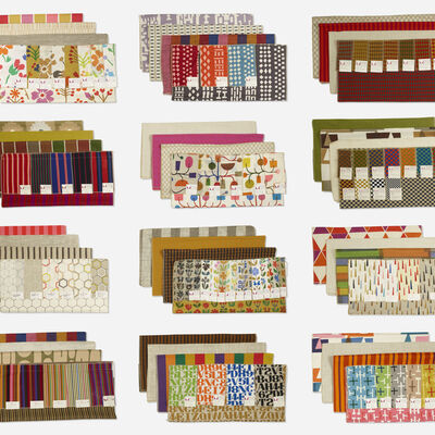 Alexander Girard, 'Important collection of fabric samples', c. 1970