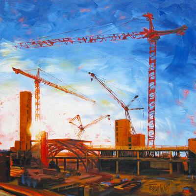 Tracy Wall, 'Sunrise Cranes Pose', 2014