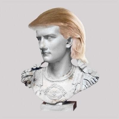 Cecilia Miniucchi, 'Roman Emperor Caligula/Blond Hair Piece', 2018