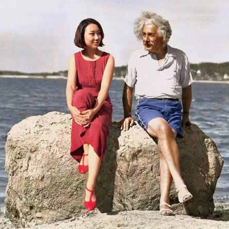 Silin Liu 刘思麟, 'Albert Einstein & Celine Liu ', 2014