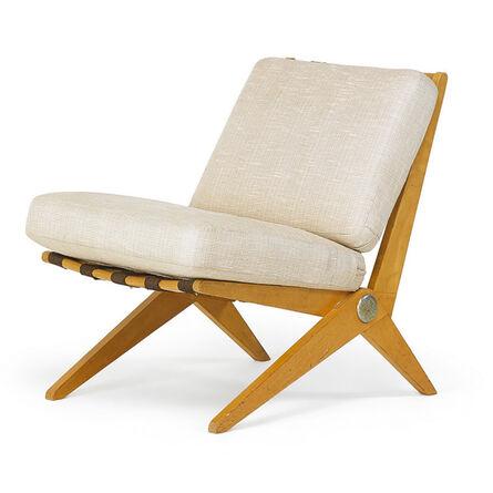 Pierre Jeanneret, 'Scissor lounge chair, New York', 1950s