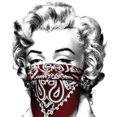 Mr. Brainwash, 'Stay Safe Small - Red', 2020