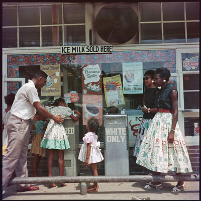Gordon Parks, 'At Segregated Drinking Fountain, Mobile, Alabama', 1956