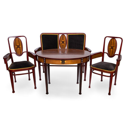 Thonet Brothers, 'Viennese Bentwood suite Marcel Kammerer for Thonet 1908', ca. 1908
