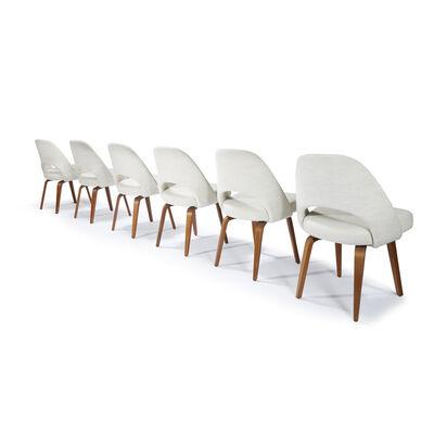 Eero Saarinen, 'Set of Six Executive Chairs,  Model 61, Knoll Associates, USA', 1950