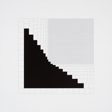 Attila Kovács, 'regressiv-synthetisches quadrat 1-1974', 1974