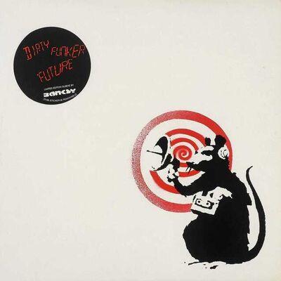 Banksy, 'Radar Rat- Dirty Funker Vinyl (White)', 2008