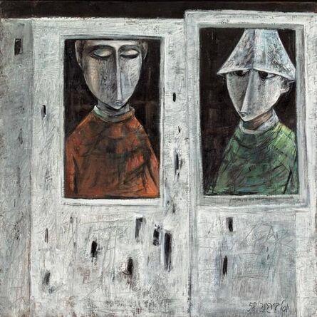 Yosl Bergner, 'Couple in the window', 1958