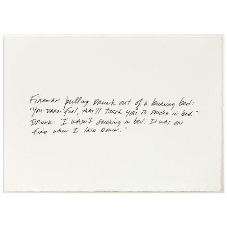 Richard Prince, 'Burning Bed', 2011
