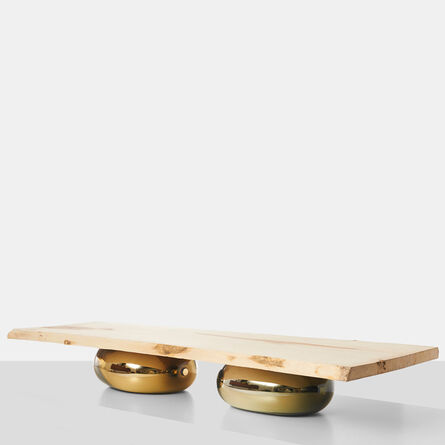 Jeremy Maxwell Wintrebert, 'Sycamore Coffee Table on Glass Bases', 2016