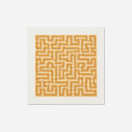 Anni Albers, 'Orange Meander', 1970