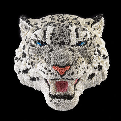 David Mach, 'Snow Leopard', 2014