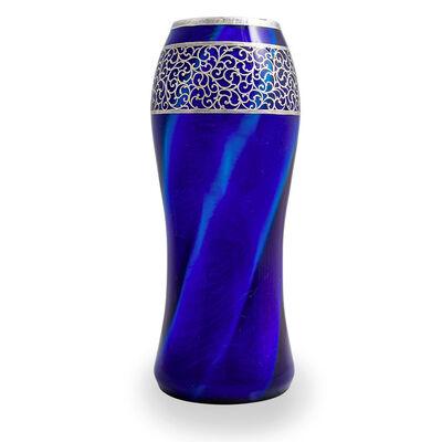 Loetz, 'Loetz, Melusin Vase applied Silver Overlay ca 1907', ca. 1907
