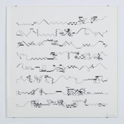 Manfred Mohr, 'P-021', 1970-1983