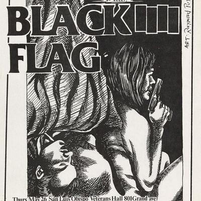 Raymond Pettibon, 'Raymond Pettibon Black Flag at Veterans Hall 1983', 1983
