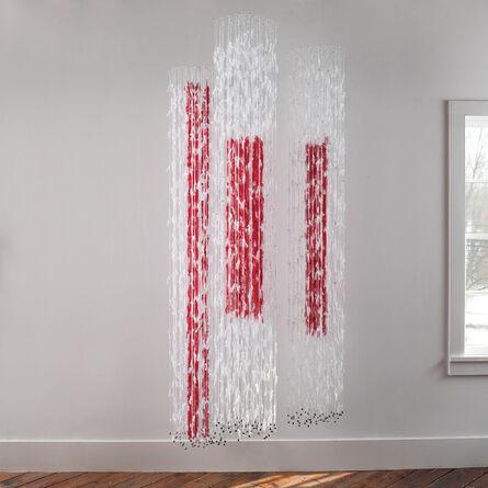 Brigitte Bouquin-Sellès, 'Coulée les de Fils I, II, III', 2011