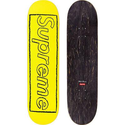KAWS, 'KAWS Supreme Chalk Logo Skateboard  (Yellow)', 2021