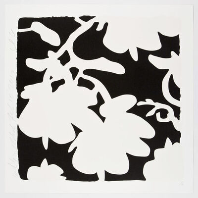 Donald Sultan, 'Lantern Flowers (White and Black)', 2017