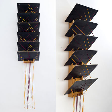 Géza Perneczky, 'The Story of the Coloful Ribbons. Vol. 46. Waterfall', 1988