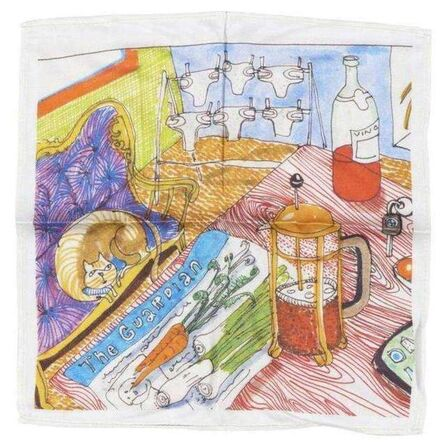 """Grayson Perry, '""""THE VANITY OF SMALL DIFFERENCES"""" SCARF', 2013"""