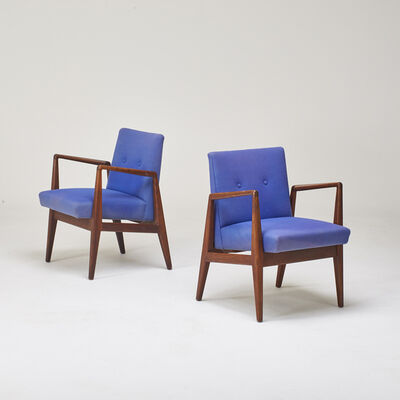 Jens Risom, 'Pair of arm chairs', 1960s