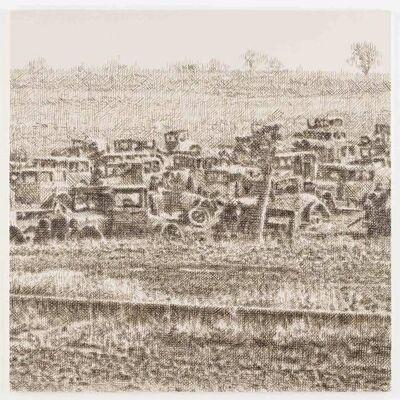 Wayne Gonzales, 'Joe's Auto Graveyard, Pennsylvania, 1936 (Walker Evans)', 2015