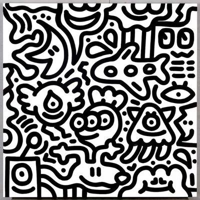 Mr. Doodle, 'Black&White#18', 2019