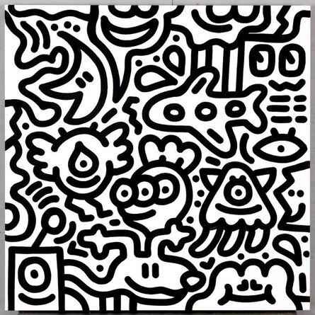 Mr Doodle, 'Black&White#18', 2019