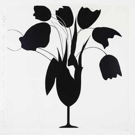 Donald Sultan, 'Black Tulips and Vase, Feb 26', 2014