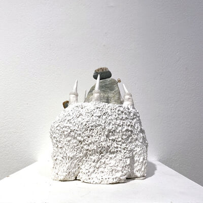 Rika Hirata, 'landscape reflecting sprouted mouth', 2021