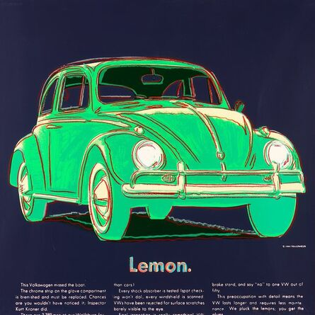 Andy Warhol, 'Volkswagen, from Ads', 1985