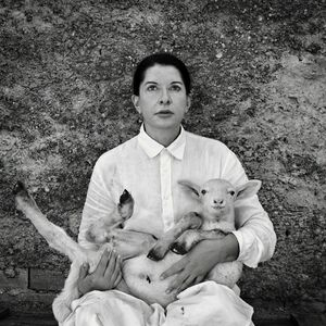 Marina Abramović, 'Portrait with Lamb (white)', 2010