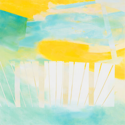 Aki YAMAMOTO, 'Both side of the sky - blue-green', 2014