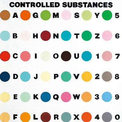 Damien Hirst, 'Controlled Substances Key Painting', 1994