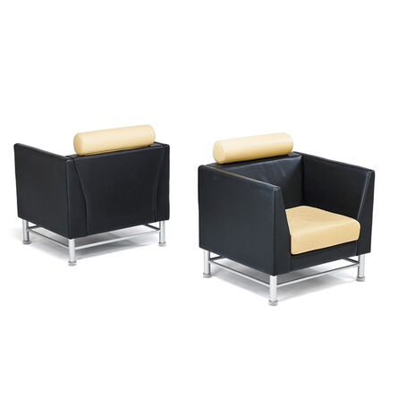 Ettore Sottsass, 'Pair of Eastside lounge chairs', 1980s