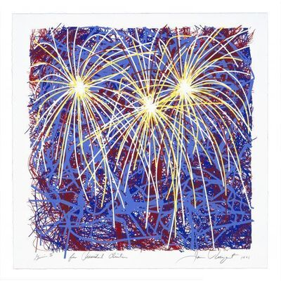 James Rosenquist, 'Fireworks for President Clinton', 1996