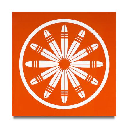 Scott Patt, 'triple band longboards 12 (red-orange)', 2012